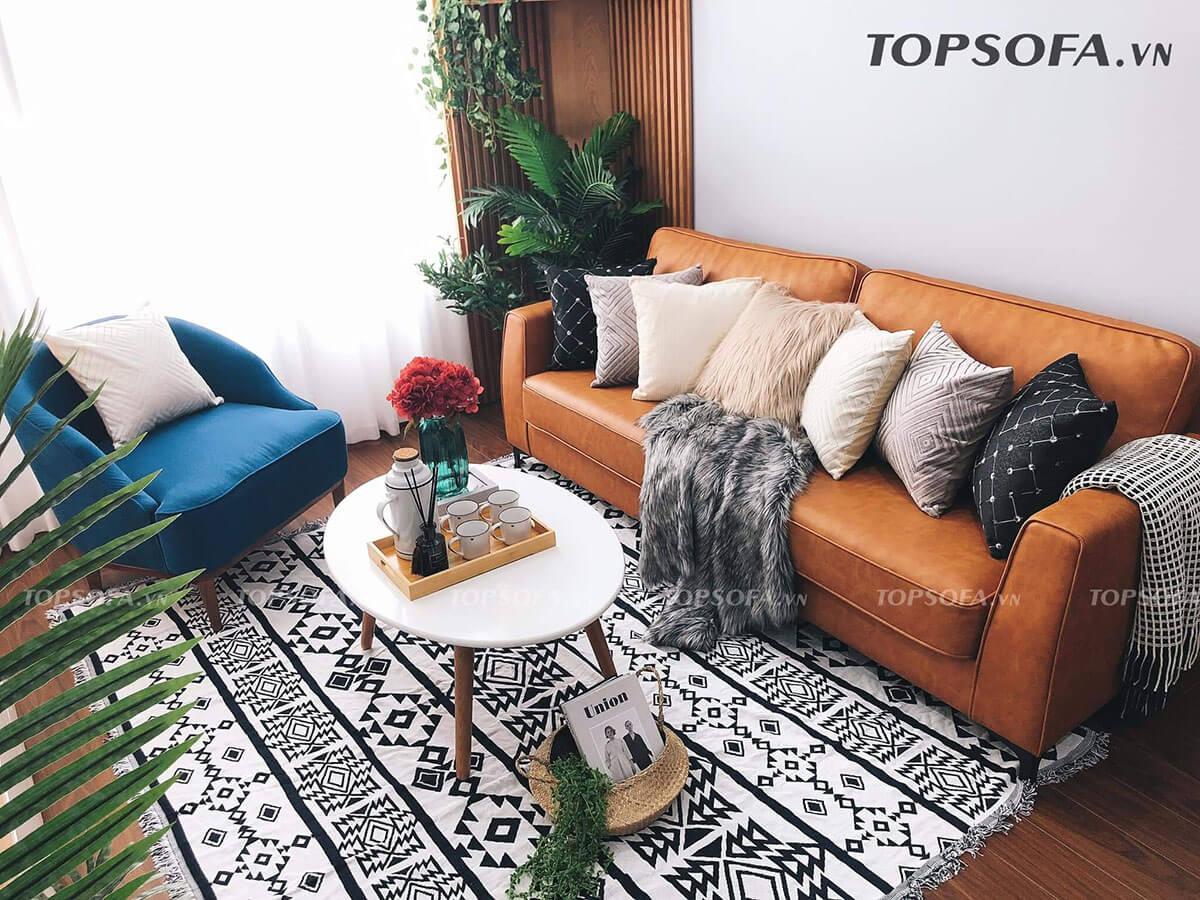 Màu sắc nổi bật kết hợp với thiết kế đơn giản, mẫu ghế này phù hợp nhất với các gia đình theo phong cách hiện đại