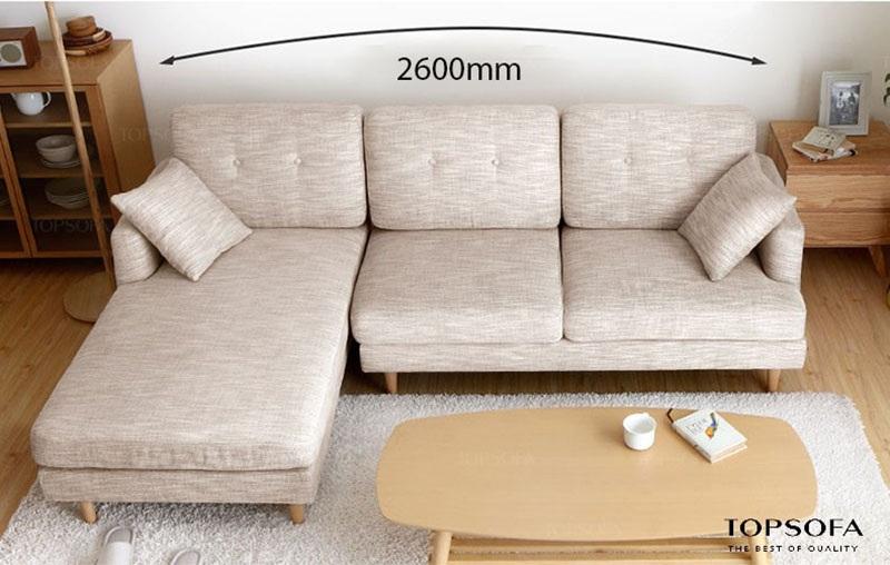 sofa góc nỉ TS211 chất liệu vải nỉ hàn quốc