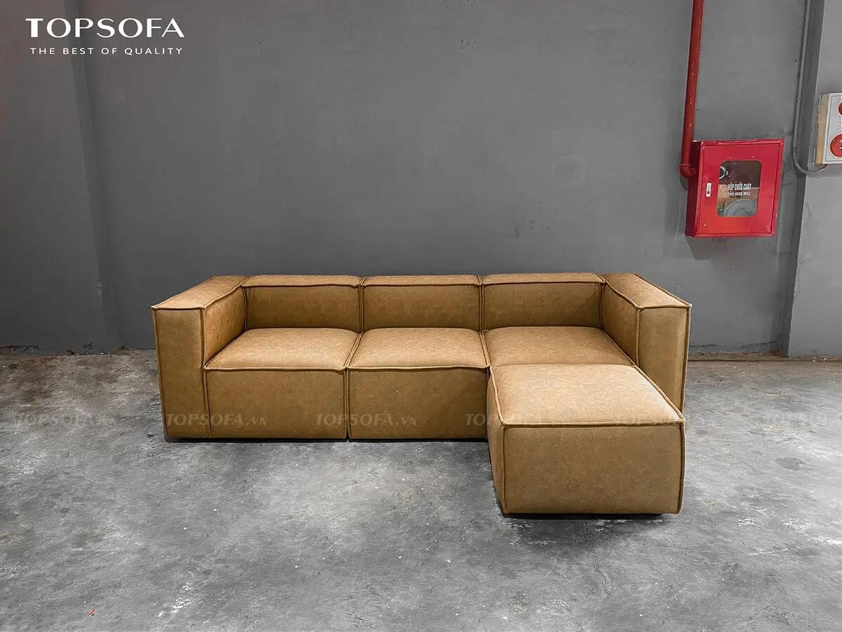 Sofa da TS207 chất liệu da carson