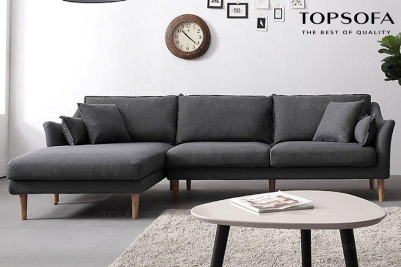 sofa góc TS210 chất liệu vải nỉ hàn quốc