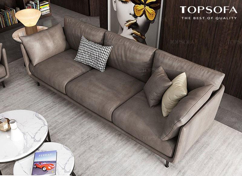 Sofa văng da TS 316 thiết kế 3 chỗ ngồi