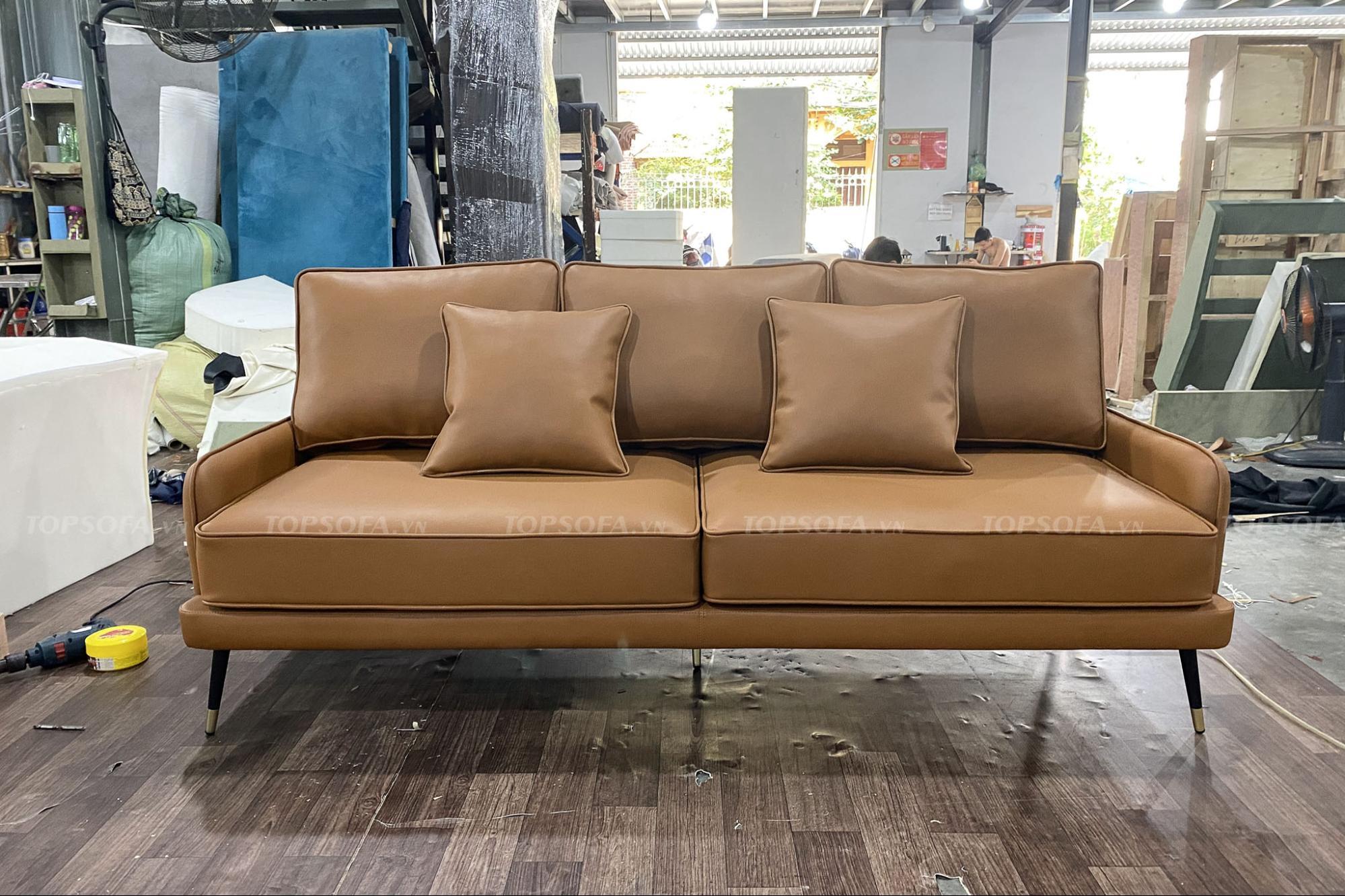 Sofa văng da TS305 đẹp