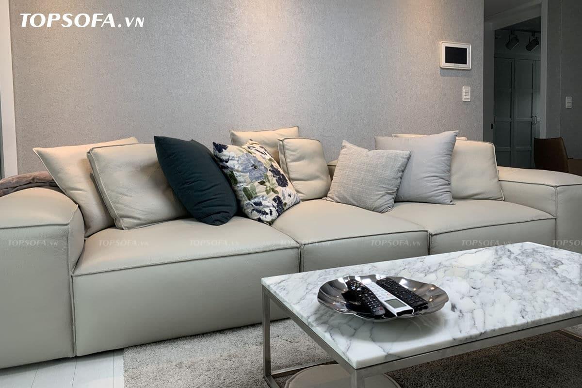 Sofa văng da TS306 chất liệu da công nghiệp