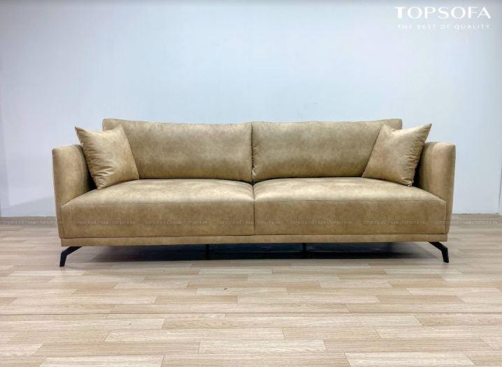 Sofa văng da TS 310 mặt trước
