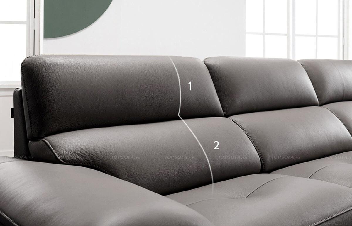 chi tiết bề mặt ghế văng TS320