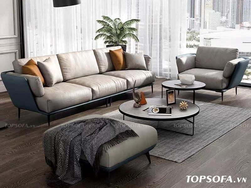 Kết hợp sofa 3 chỗ ngồi với sofa đơn cùng bàn trà giúp bạn tạo ra một bộ sofa đầy ấn tượng.