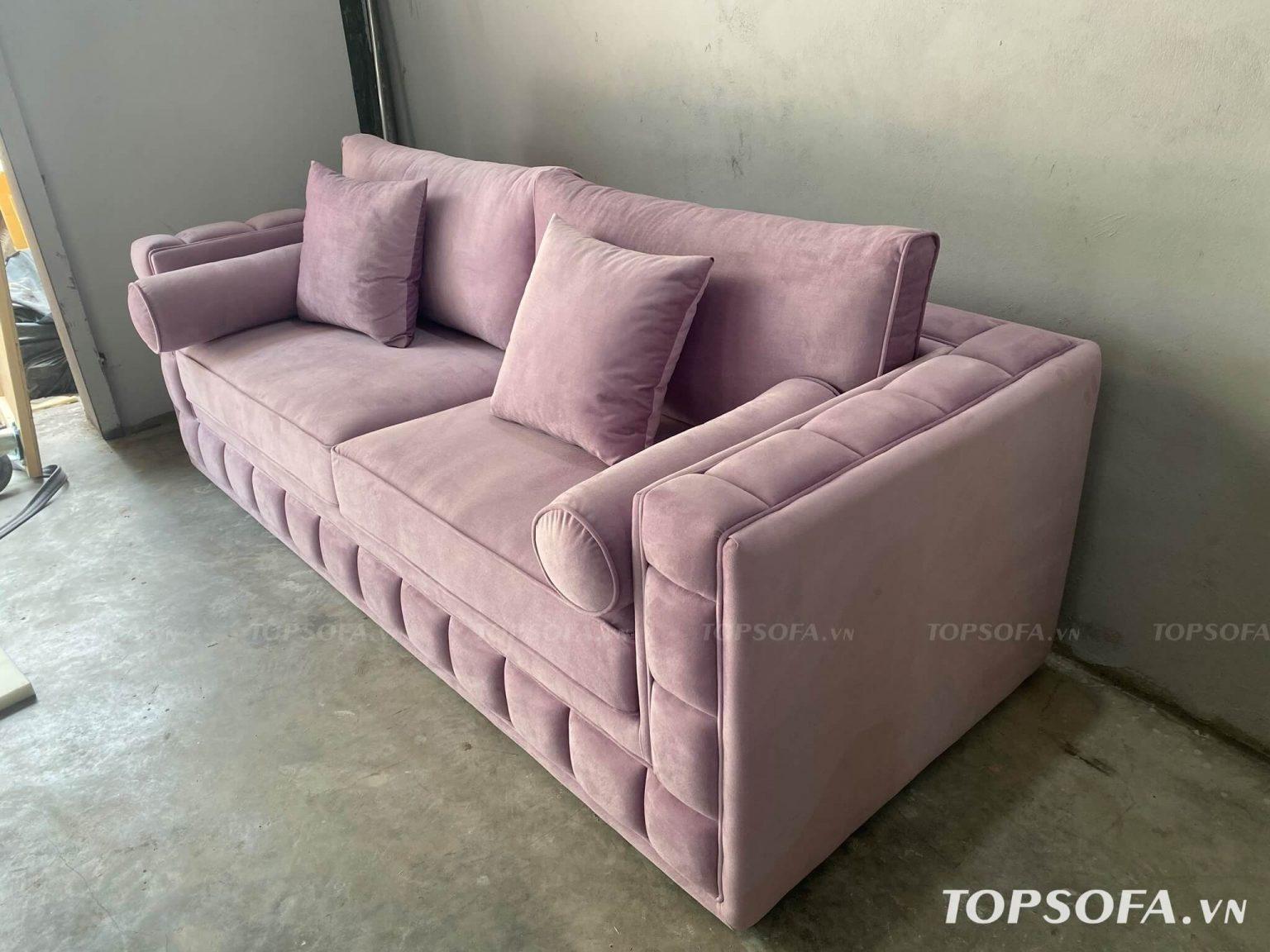 Sofa văng nỉ TS328 thiết kế không chân
