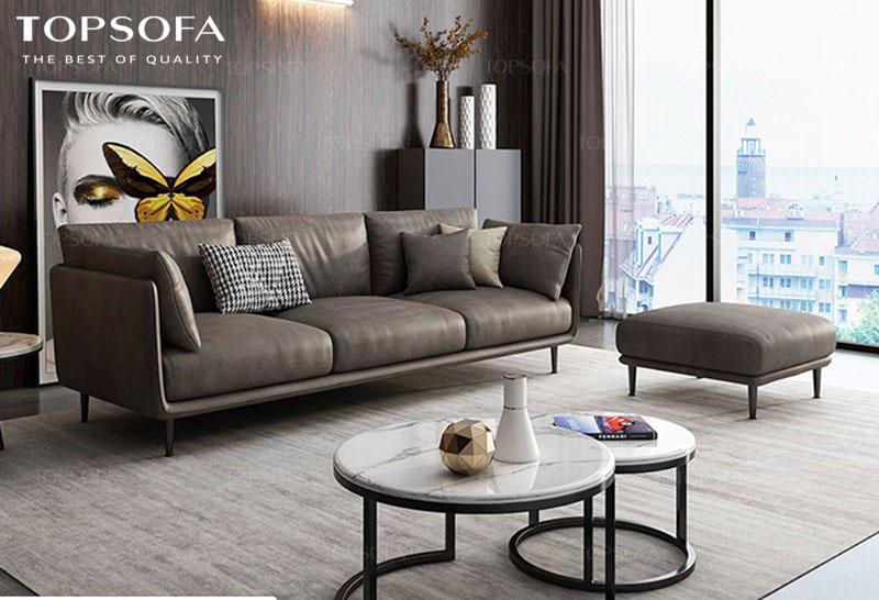 Sofa văng TS316 chất liệu da công nghiệp