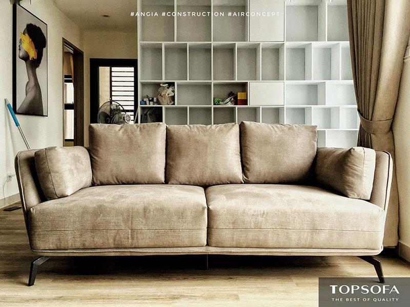 sofa văng TS317 màu ghi vàng