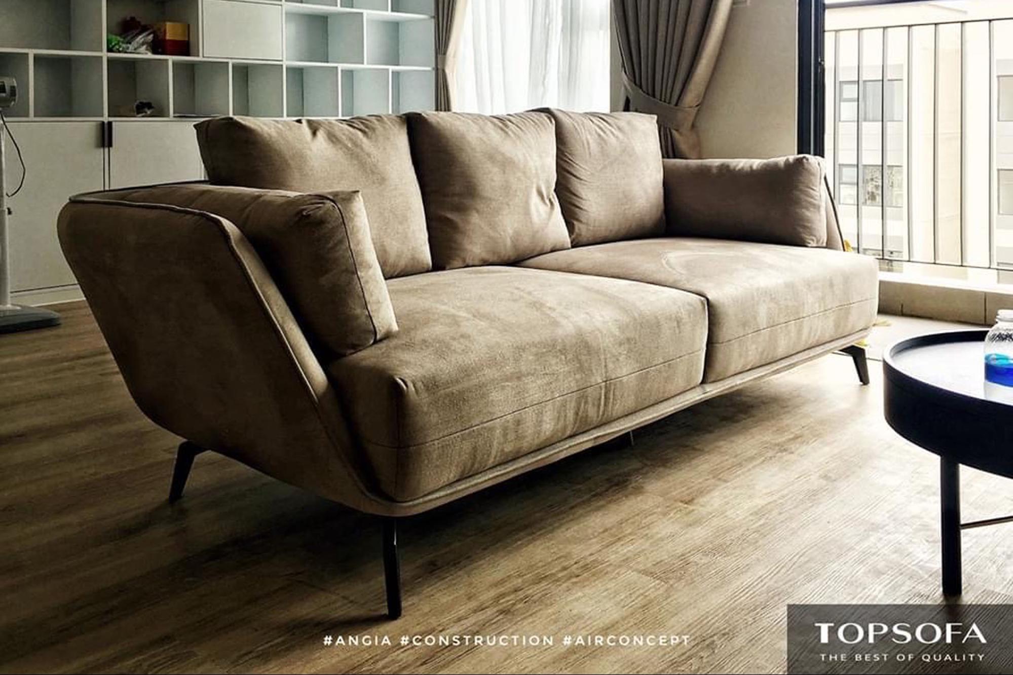 sofa văng vải TS317 thiết kế đơn giản