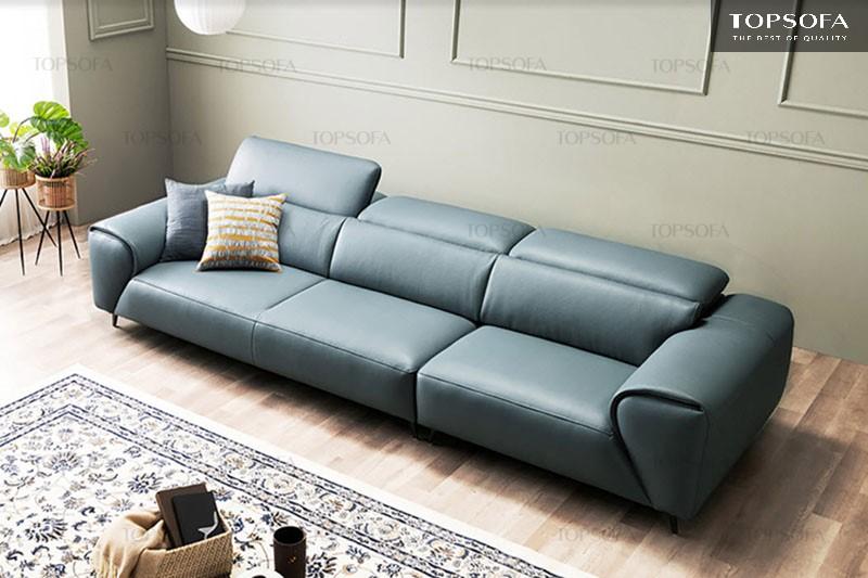 Sofa văng da TS307 có thiết kế trang nhã, tinh tế mang đến vẻ đẹp sang trọng cho ngôi nhà. Bên cạnh đó, sản phẩm ghi điểm nhờ phần đệm dày dặn tạo cảm giác êm ái cho người dùng.
