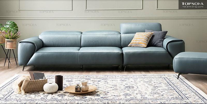 Sắc xanh cá tính, nổi bật giúp không gian phòng khách thêm ấn tượng hơn.