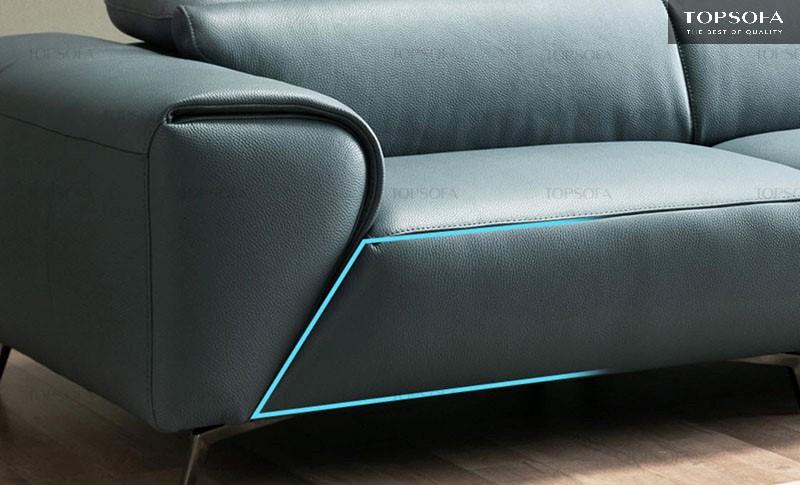 Sofa văng da TS307 được làm từ chất liệu da công nghiệp