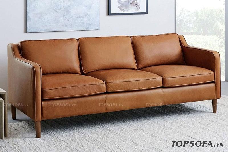 Ghi điểm nhờ thiết kế đơn giản, sang trọng. Mẫu sofa TS 308 phù hợp với những gia đình có diện tích nhỏ hẹp