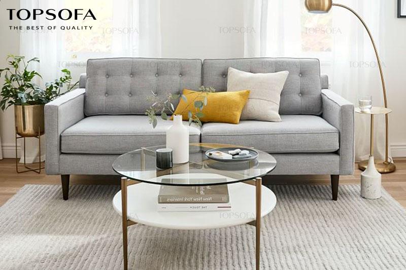 mẫu sofa văng ghi xám