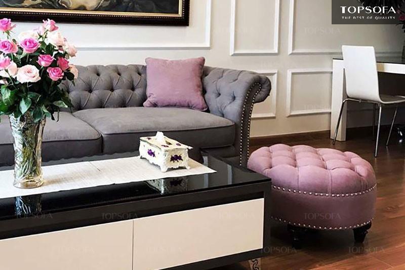 sofa văng tân cổ điển TS504 thiết kế cầu kỳ