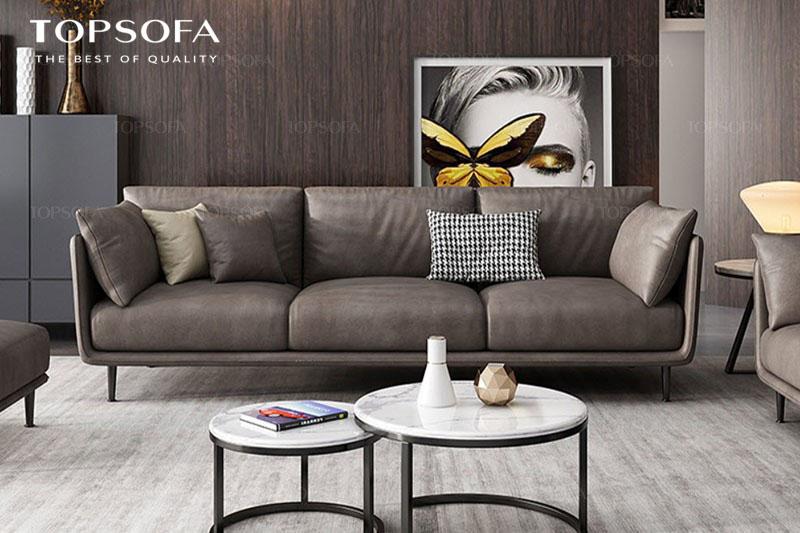 Sofa TS316 có thiết kế nhã nhặn, thanh lịch cùng với màu nâu cafe làm chủ đạo, đây là sản phẩm phù hợp với không gian sang trọng, đẳng cấp