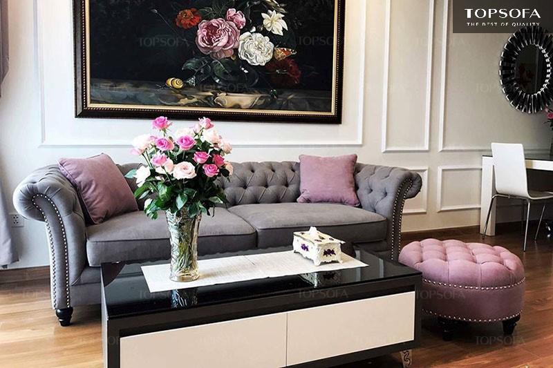 Sofa tân cổ điển sở hữu vẻ đẹp tinh tế, nổi bật giữa phong cách cổ điển và hiện đại.