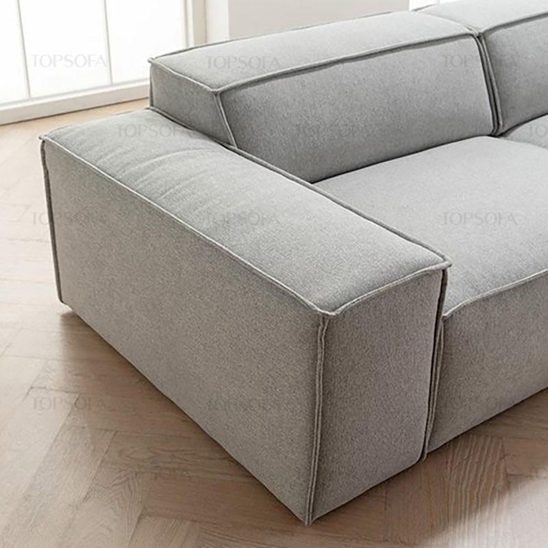 sofa góc nỉ TS214 êm ái