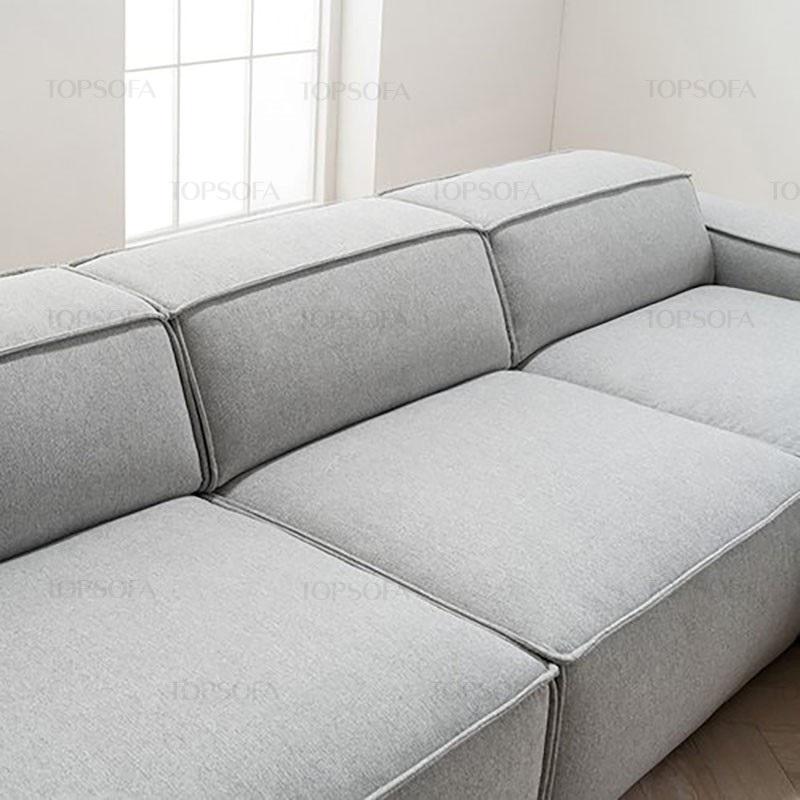 Sofa góc nỉ TS214 thiết kế không chân