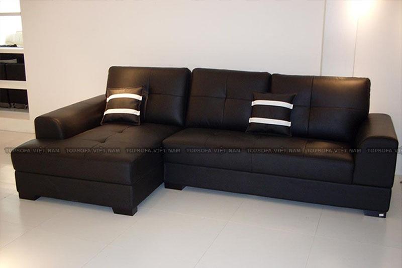 Sofa góc TS215 màu đen đẹp