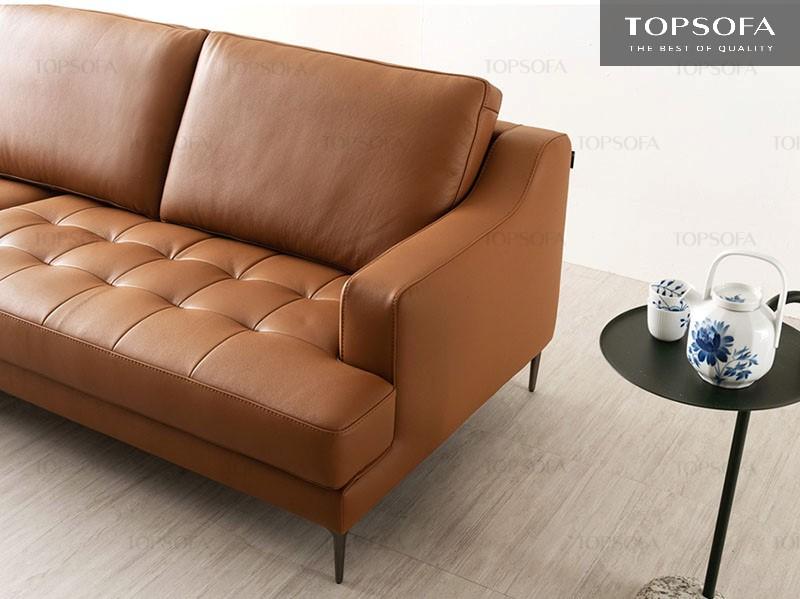 Sofa văng da TS321 sở hữu chất liệu da công nghiệp nhập khẩu Hàn Quốc