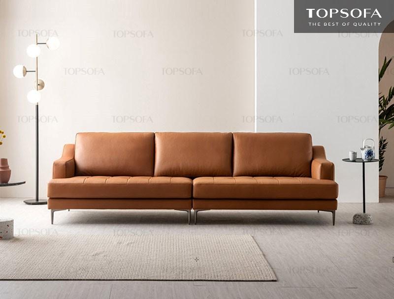 Sofa văng da TS321 phù hợp với nhiều không gian bày trí khác nhau trong gia đình