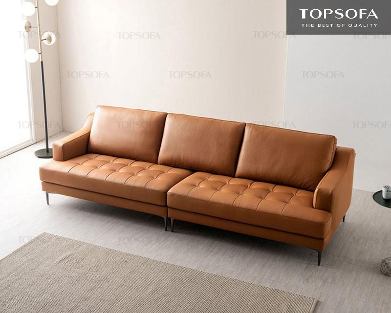 Mẫu sofa văng da TS321 thiết kế đơn giản mà tinh tế