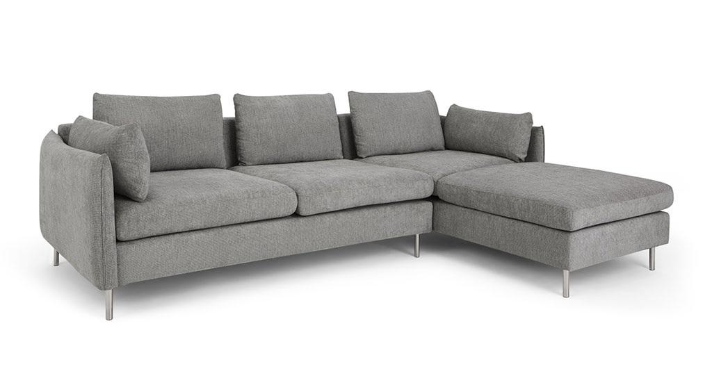 sofa góc nỉ TS220 chân inox