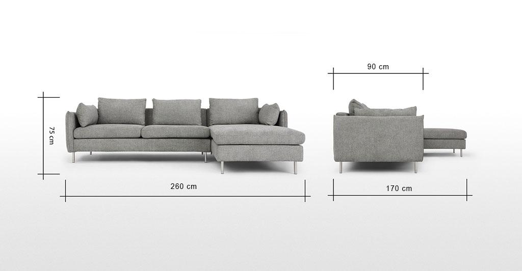 sofa góc TS220 bọc vải nhập khẩu