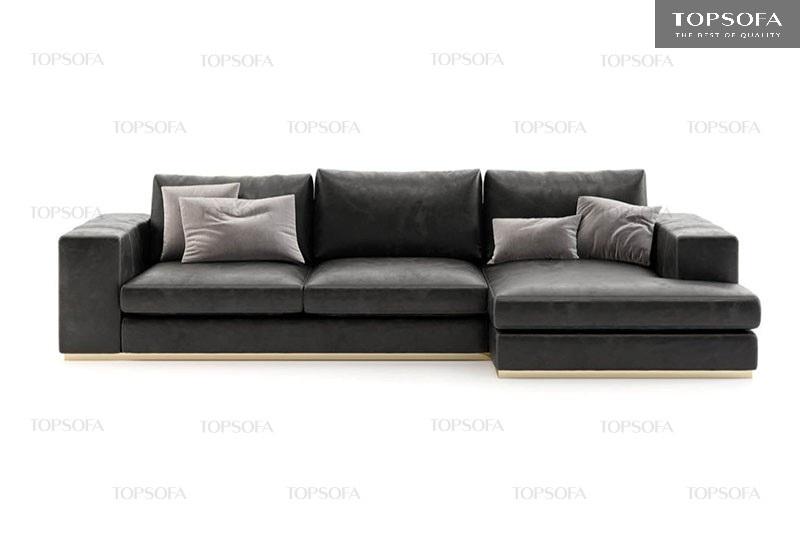 Sofa góc TS212 da công nghiêp