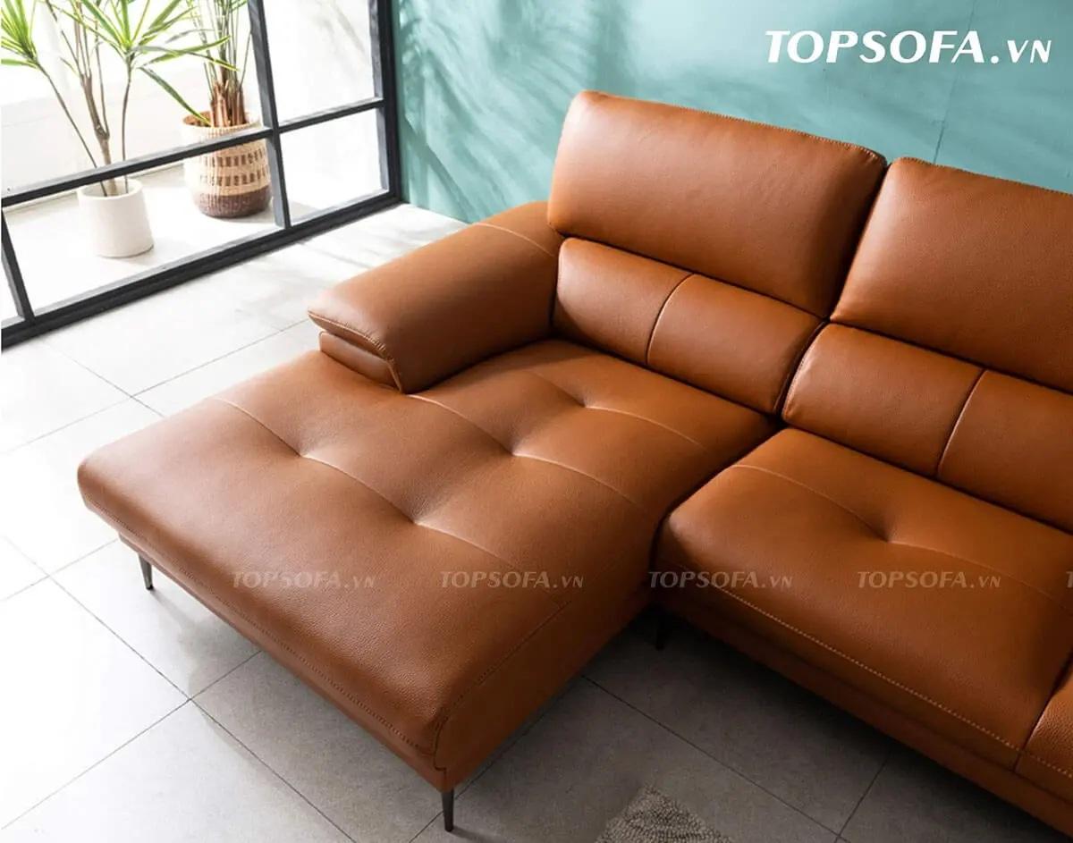 sofa góc da TS223 bọc da hàn quốc