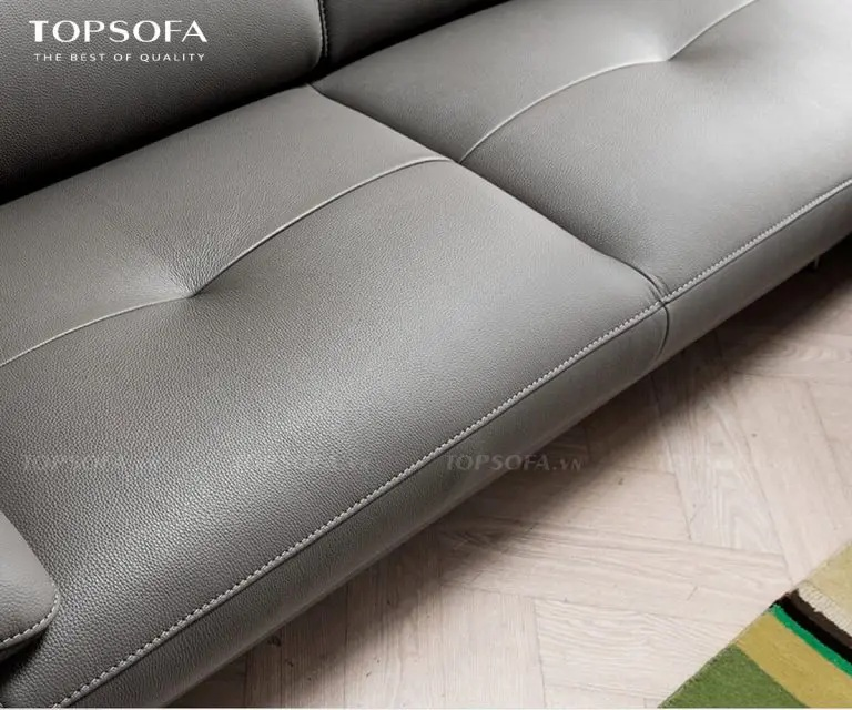 sofa TS221 bọc da công nghiệp hàn quốc