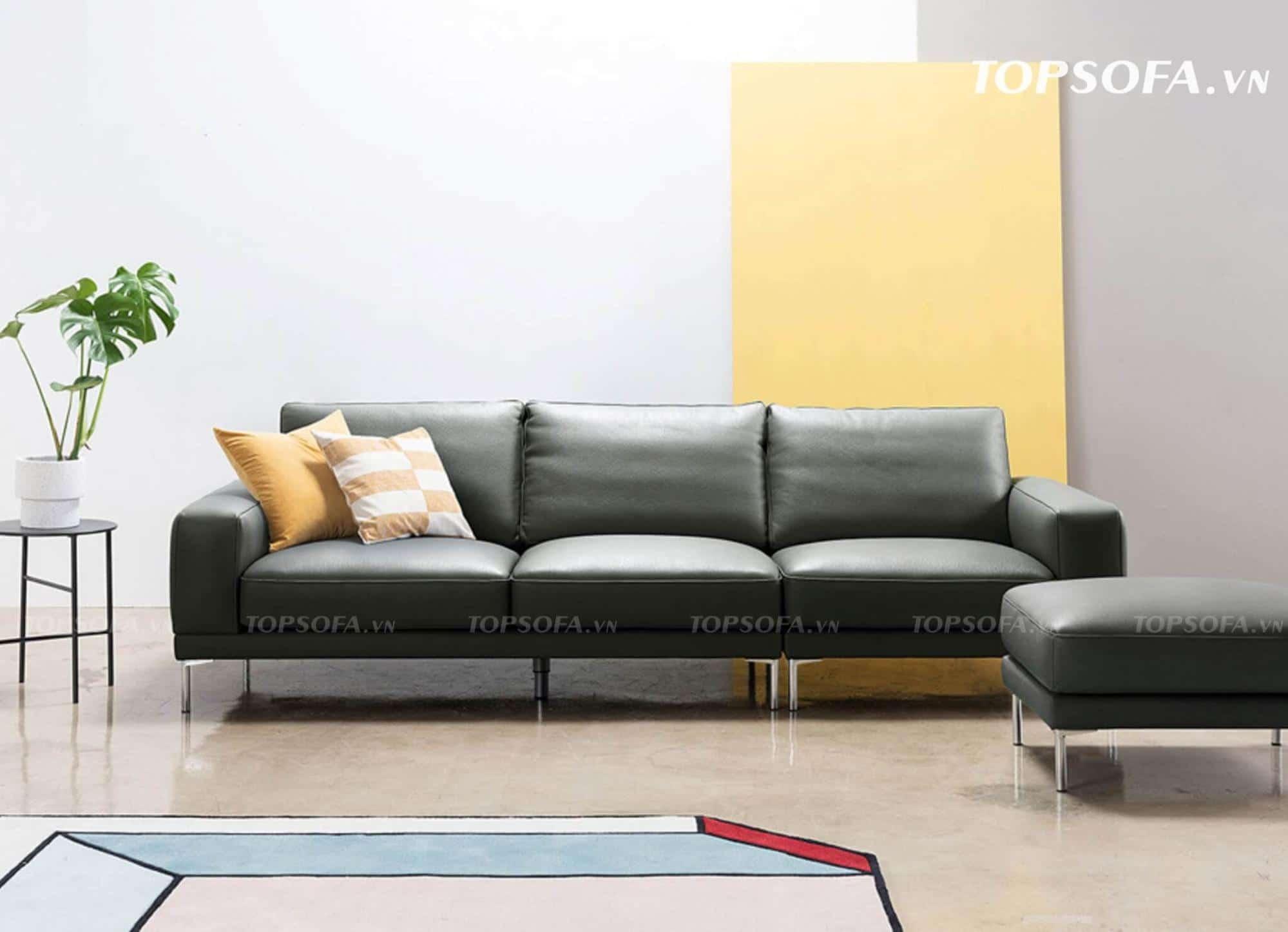 sofa văng da TS334 mặt trước