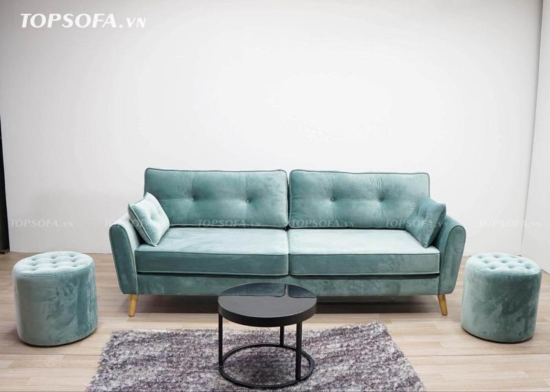 Gam màu xanh ngọc vô cùng nổi bật và ấn tượng cho không gian.
