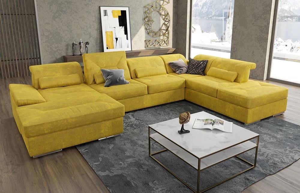Sản phẩm với chân ghế thấp mang lại vẻ đẹp bề thế phù hợp với những căn phòng có diện tích rộng lớn.