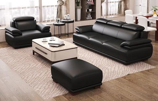 Sở hữu những nét thiết kế mới lạ, cùng chất liệu da cao cấp đã cho ra đời bộ sản phẩm sofa da màu đen kiểu dáng hiện đại được nhiều khách hàng yêu thích.