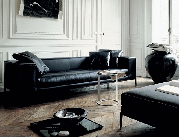 Sofa da màu đen đặc biệt phù hợp với gia chủ mệnh Thủy