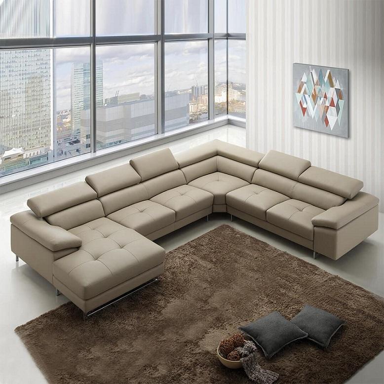 Sofa góc quây phù hợp với những không gian có diện tích rộng.