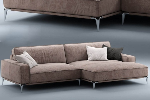 Lạ mắt, thời trang với ghế sofa góc vuông chữ L TS227 màu tím khói. Khối đệm dày dặn kết hợp chất liệu vải da lộn bọc ngoài mang đến cảm giác êm, mềm thỏa thích cho người dùng