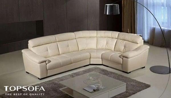 Mẫu sofa góc chữ L này có lưng tựa và đệm ngồi êm ái mang đến cảm giác thư giãn cho bạn khi sử dụng