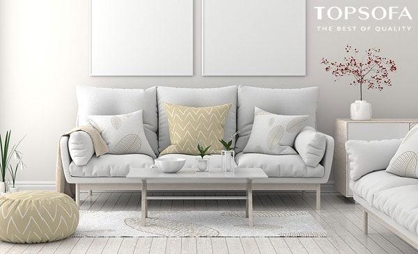 Gây ấn tượng nhờ thiết kế hiện đại, gam màu trắng xám tươi sáng, mẫu sofa văng 3 chỗ được làm từ nỉ cao cấp sẽ mang đến cho người dùng những trải nghiệm mới mẻ nhất.