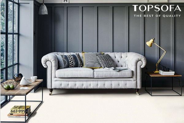 Được thiết kế theo phong cách tân cổ điển sang trọng với tay vịn được uốn cong mềm mại, mẫu sofa này mang đến vẻ đẹp thời thượng.