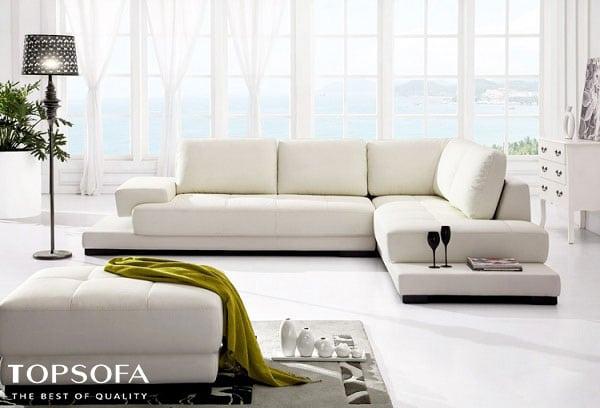 Sofa trắng da thật thường có độ bền cao nhưng cũng đi kèm với giá thành cao
