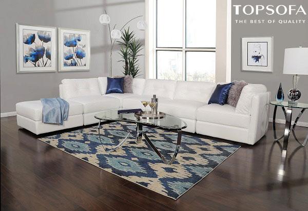 sofa góc này sở hữu màu trắng nổi bật