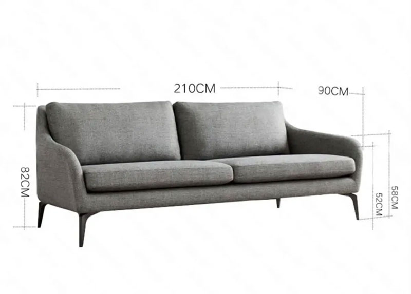 mẫu kích thước sofa TS344