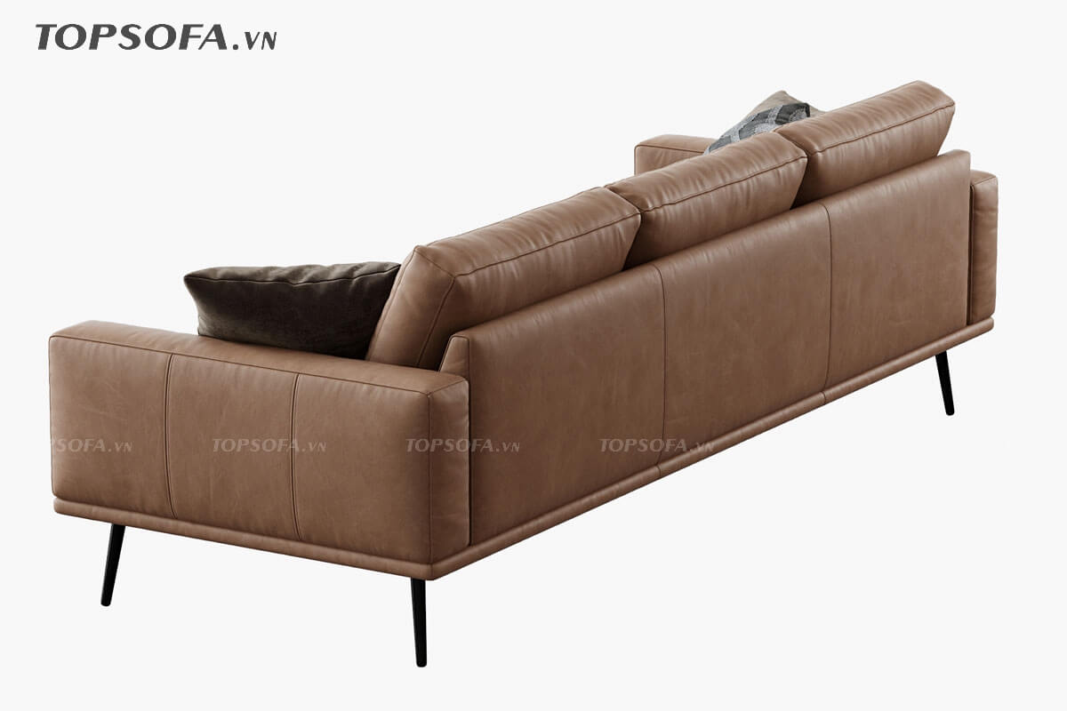 sofa văng da TS341 mặt sau