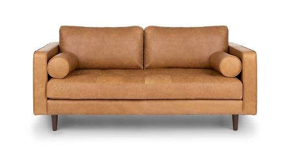 Sofa văng 2 chỗ ngồi nhỏ gọn, thiết kế đơn giản nhưng vẫn mang lại vẻ đẹp trang nhã. Phần đệm ngồi và lưng tựa được làm từ mút cao cấp, bên ngoài bọc da công nghiệp Nhật Bản có độ bền cao.
