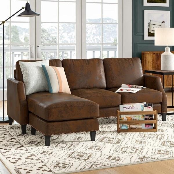 Ghế sofa được làm từ chất liệu da Microfiber là một chất liệu da công nghiệp đẳng cấp nhất hiện nay với chất lượng sánh ngang da thật.