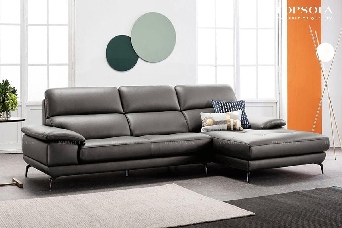 Thiết kế tựa lưng cao hơn những mẫu sofa góc L nhỏ khác giúp nâng đỡ không chỉ lưng mà cả phần đầu, cổ và vai.